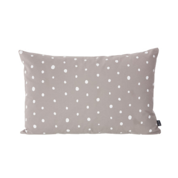 ferm Living - Dotted Kissen 60 x 40 cm, warm grey / white