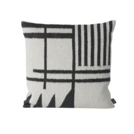 ferm living - Kelim Cushion, black Lines