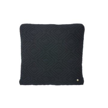 ferm Living - Quilt Kissen 45 x 45 cm, dunkelgrau