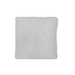 ferm Living - Quilt Kissen 45 x 45 cm, hellgrau