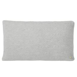 ferm Living - Quilt Kissen 80 x 50 cm, hellgrau