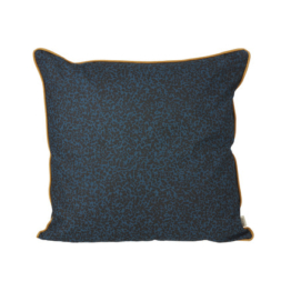 ferm Living - Terrazzo Kissen 50 x 50 cm, dunkelblau