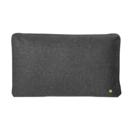 ferm Living - Wool Cushion 60 x 40 cm, dunkelgrau