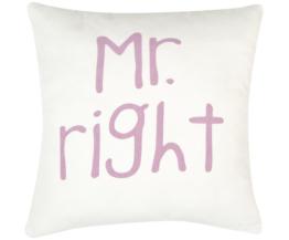 Kissenhülle Mr. Right