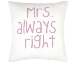 Kissenhülle Mrs. Right