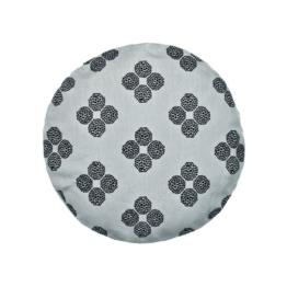 Kvadrat - Circular Cushion Ø 43, Hana Beads, grau (limited edition)