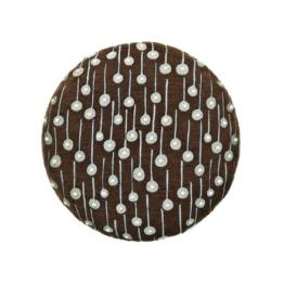 Kvadrat - Circular Cushion, Ø 43 Pop Rain, braun (limited edition)