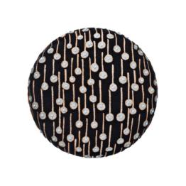 Kvadrat - Circular Cushion, Ø 43 Pop Rain schwarz (limited edition)