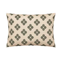 Kvadrat - Rectangular Cushion, Hana Beads, beige (limited edition)