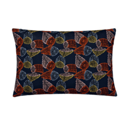 Kvadrat - Rectangular Cushion, Hana No Mi, dunkelblau (limited edition)