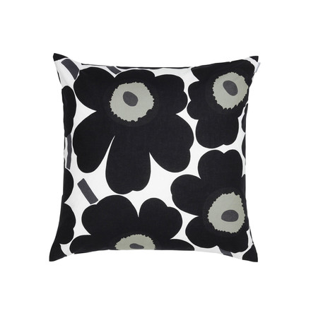 marimekko pieni unikko kissenbezug 50 x 50 cm wei schwarz kissenjunkie. Black Bedroom Furniture Sets. Home Design Ideas