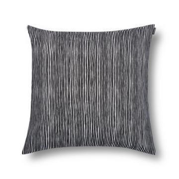 Marimekko - Varvunraita Kissenbezug 50 x 50 cm, schwarz / weiß