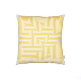 Vitra - Graphic Print Pillow - Maze 40 x 40 cm, senf