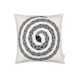 Vitra - Graphic Print Pillow - Snake 40 x 40 cm, schwarz