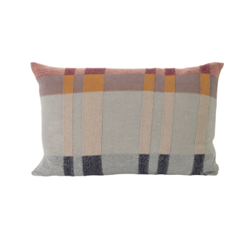 ferm Living - Medley Strick-Kissen, 60 x 40 cm, mint