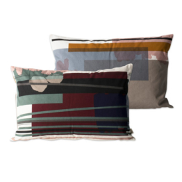 ferm Living - Colour Block Kissen large, 3