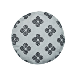 Kvadrat - Circular Cushion Ø 43, Hana Beads, grau (limited edition)