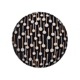 Kvadrat - Circular Cushion, Ø 43 Pop Rain schwarz (limited edition)