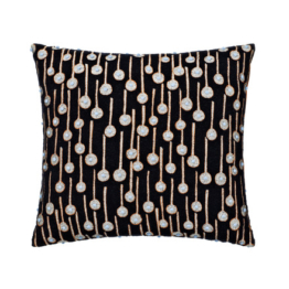 Kvadrat - Square Cushion, Pop Rain, schwarz (limited edition)