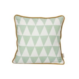ferm Living - Little Geometry Kissen 30 x 30 cm, mintgrün