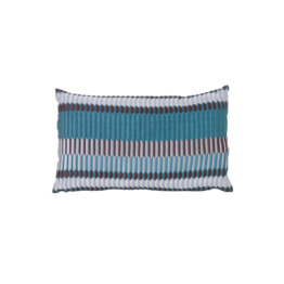 ferm Living - Salon Kissen Pleat 40 x 25 cm, sea