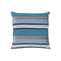 ferm Living - Salon Kissen Pleat 40 x 40 cm, sea